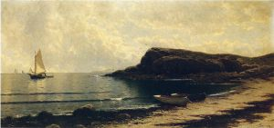 Along the Shore II - Alfred Thompson Bricher Oil Painting