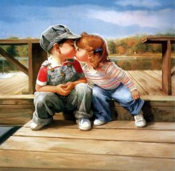 First Kiss - Donald Zolan Oil Painting