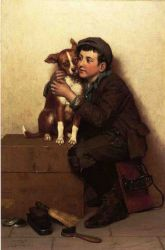 Against His Will - John George Brown Oil Painting