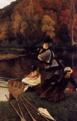 Autumn on the Thames - Oil Painting Reproduction On Canvas