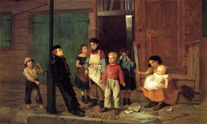 The Bully of the Neighborhood - John George Brown Oil Painting