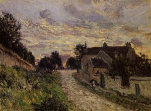 A Small Street in Louveciennes - Alfred Sisley Oil Painting
