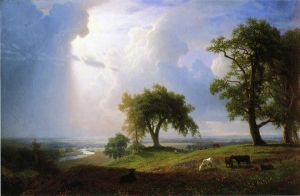 California Spring - Albert Bierstadt Oil Painting