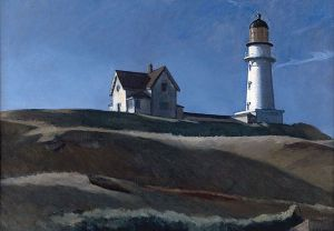 Lighthouse HIll - Edward Hopper Oil Painting