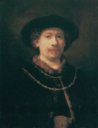 Self Portrait 24 - Rembrandt van Rijn Oil Painting