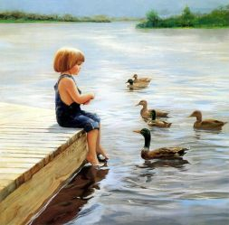 Summer Lake - Oil Painting Reproduction On Canvas