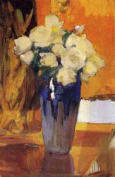 White Roses from the House Garden - Joaquin Sorolla y Bastida Oil Painting