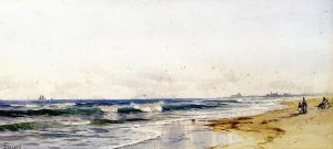 Far Rockaway Beach - Alfred Thompson Bricher Oil Painting