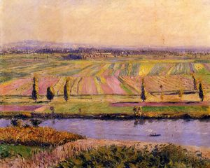 The Gennevilliers Plain, Seen from the Slopes of Argenteuil - Gustave Caillebotte Oil Painting
