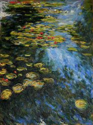 Water Lilies (Yellow and Green) - Claude Monet Oil Painting