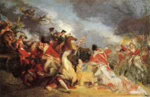 The Death of General Mercer at the Battle of Princeton (unfinished version) - John Trumbull Oil Painting