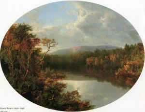 Autumn Reflections - William Mason Brown Oil Painting