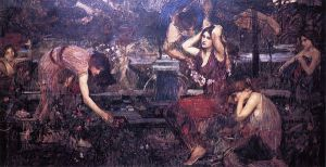 Sketch for 'Flora and the Zephyrs' - John William Waterhouse Oil Painting