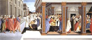 Baptism of St Zenobius and His Appointment as Bishop - Sandro Botticelli oil painting