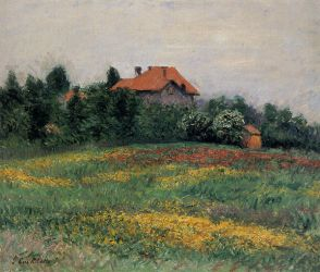 Norman Landscape - Gustave Caillebotte Oil Painting