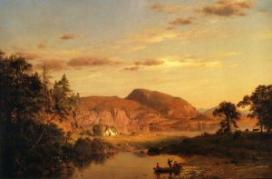 Home by the Lake - Frederic Edwin Church Oil Painting