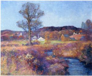 A New England Valley - Robert Vonnoh Oil Painting
