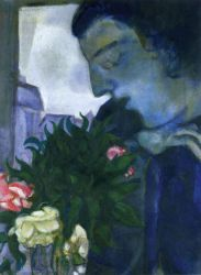 Self Portrait in Profile - Marc Chagall Oil Painting