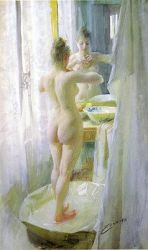 The Tub - Anders Zorn Oil Painting