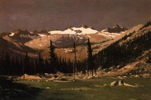 Mount Lyell above Yosemite - William Bradford Oil Painting