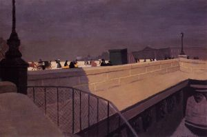 The Pont Neuf - Felix Vallotton Oil Painting