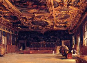 Interior of the Doge's Palace - John Singer Sargent Oil Painting