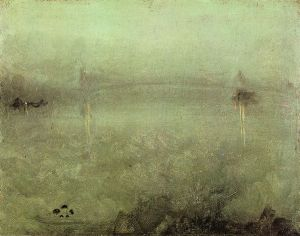 Nocturne: Silver and Opal - James Abbott McNeill Whistler Oil Painting