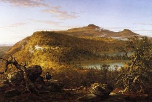 A View of the Two Lakes and Mountain House, Catskill Mountains, Morning - Thomas Cole Oil Painting