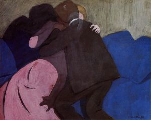 The Kiss - Felix Vallotton Oil Painting
