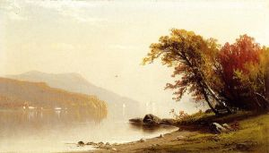 Autumn on the Lake - Alfred Thompson Bricher Oil Painting