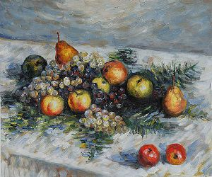 Pears and Grapes - Claude Monet Oil Painting