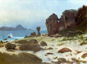 Bay of Monterey - Albert Bierstadt Oil Painting
