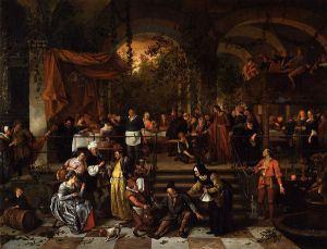 The Wedding Feast at Cana - Jan Steen oil painting