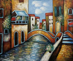 Bridge over Canal, Venice - Oil Painting Reproduction On Canvas