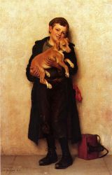 The Bootblack II - John George Brown Oil Painting