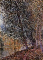 Banks of the Loing, Autumn - Alfred Sisley Oil Painting