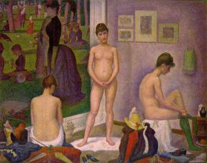 Models - Georges Seurat Oil Painting