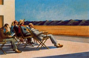 People in the Sun - Oil Painting Reproduction On Canvas Edward Hopper Oil Painting