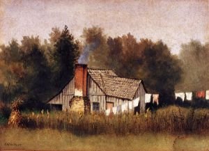 Cabin Viewed from Rear with Wash Line - William Aiken Walker Oil Painting