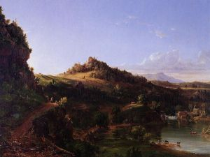 Catskill Scenery - Thomas Cole Oil Painting
