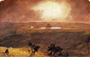 Jerusalem from the Mount of Olives - Frederic Edwin Church Oil Painting