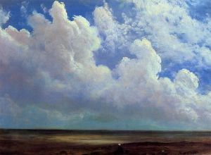 Beach Scene - Albert Bierstadt Oil Painting