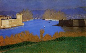 The Port of Marseille - Felix Vallotton Oil Painting
