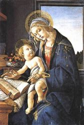 Madonna of the Book (Madonna del Libro) - Sandro Botticelli oil painting