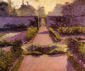 The Kitchen Garden, Yerres - Gustave Caillebotte Oil Painting