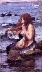 Sketch for 'A Mermaid' - Oil Painting Reproduction On Canvas