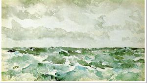 Blue and Silver: The Chopping Channel - James Abbott McNeill Whistler Oil Painting