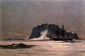 Freeing a Square Rigger - William Bradford Oil Painting