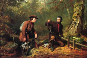 Mink Trapping in Northern New York - Arthur Fitzwilliam Tait Oil Painting