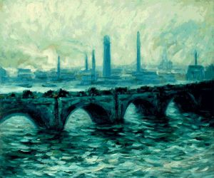 Waterloo Bridge II - Claude Monet Oil Painting